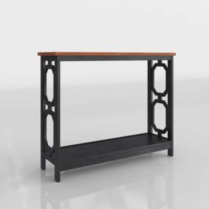 Overstock Convenience Omega 3D Console Table