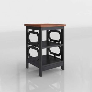 Overstock Convenience Omega 3D End Table