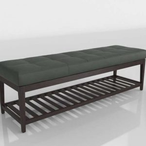 3D Bench C&B Nash Leather Large
