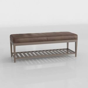 3D Bench C&B Nash Leather Small Brown