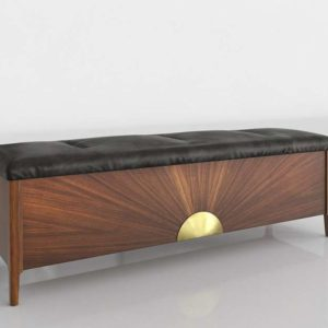 3D Bench CB2 Dusk Leather & Wood