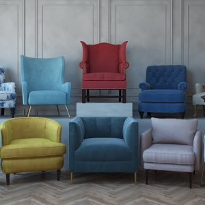 Armchairs Collection / 3D Models Set