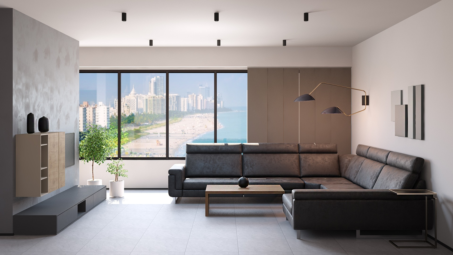 Living Room Minimalist Style / 3D Models Set // Glancing EYE