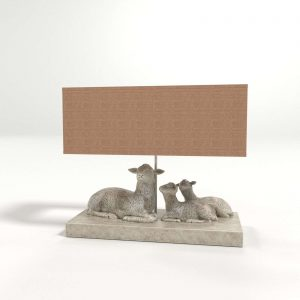 3D Table Lamp Sheep Beige