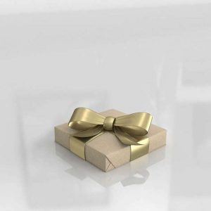 3D Gift Gold Wrapped