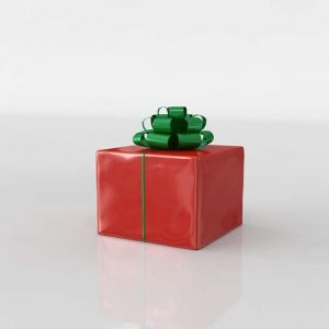 3D Gift Red Wrapped