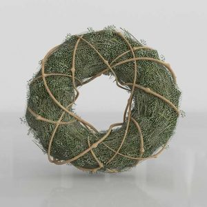 3D Christmas Wreath Golden Thread