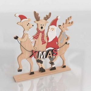 3D XMas Decoration GE Reindeers
