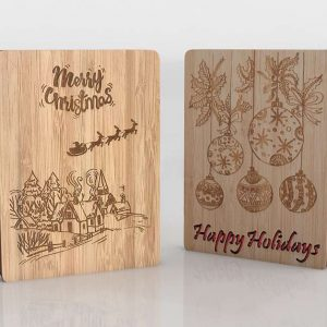 3D Christmas Wooden Wall Decor