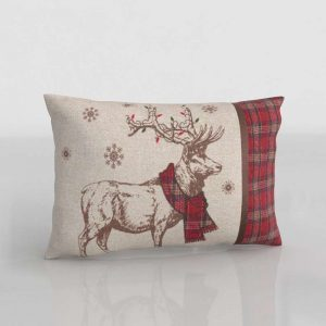 3D Pillow Festive Reindeer