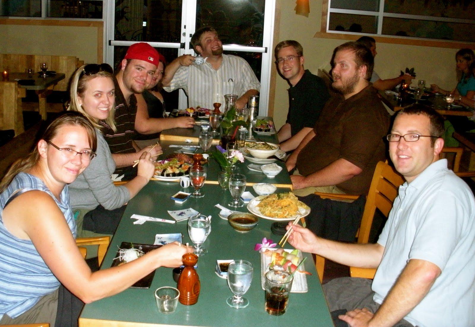 2009 - 27th birthday - Lauren planned a surprise dinner at Fuji-Ya Japanese restaurant in Uptown.  Photo credit: Liz Burke.