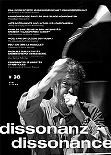 Dissonanz Dissonance Musikzeitschrift Nummer 98 - Cover Glarean Magazin