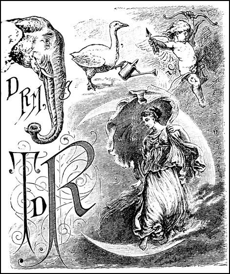 """Ein Rebus der anspruchsvolleren Art aus dem 19. Jahrhundert. Gesucht ist einmal mehr ein """"Spruch zur Erbauung und Belehrung""""..."""
