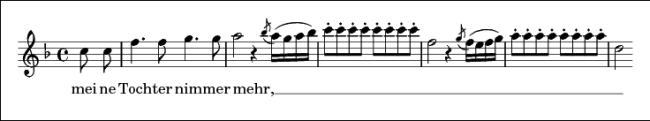 """Sopran-Gesang bis ins dreigestrichene C hinauf: Arien-Beginn der 1. Koloratur-Passage der """"Königin der Nacht"""" aus Mozarts """"Die Zauberflöte"""""""