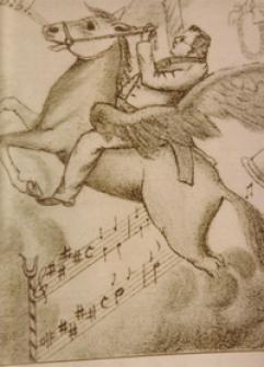 """""""Max Reger auf dem Pegasus, alle Hindernisse spielend überwindend"""" (H. Starkloff)"""