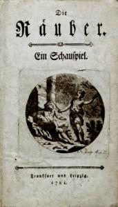 Friedrich Schiller - Die Räuber - Titelblatt der Erstausgabe 1781 - Glarean Magazin