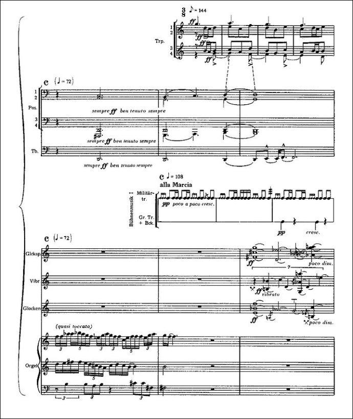 """Mehrschichtige Collage-Technik (2. Akt / Intermezzo aus """"Die Soldaten"""")"""