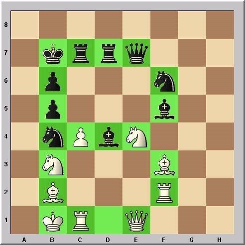 Studie Schach-Alphabet Buchstabe B Problemschach Walter Eigenmann im Glarean Magazin