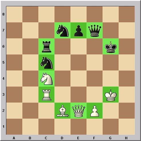 Studie Schach-Alphabet Buchstabe C Problemschach Walter Eigenmann im Glarean Magazin