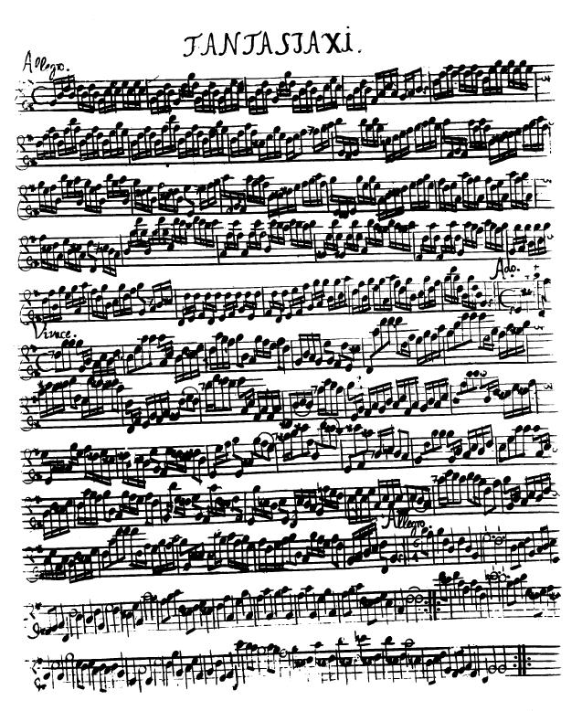 Wer bin ich - April 2008 - Fantasie für Flöte