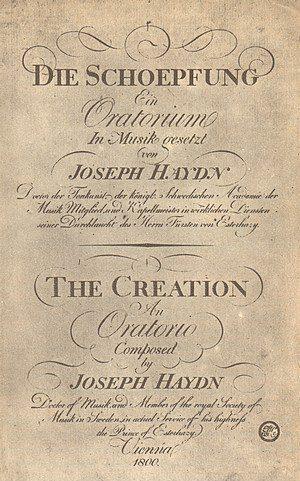 """Zweisprachige Erstausgabe der """"Schöpfung"""" von Joseph Haydn 1800"""