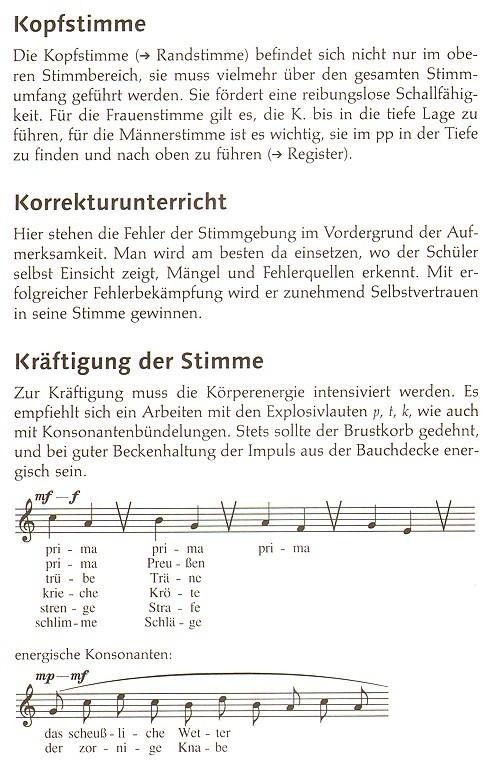 Leseprobe: Hildegund Lohmann-Becker - Handbuch Gesangspädagogik, Stichworte zu Theorie und Praxis, Schott Verlag