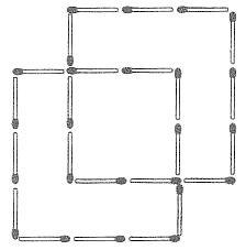 Streichholzrätsel Denksport-Aufgabe mit Lösung Matchstick Puzzle Nummer 07 Lösung