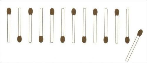 Streichholzrätsel Denksport-Aufgabe mit Lösung Matchstick Puzzle Juni 09