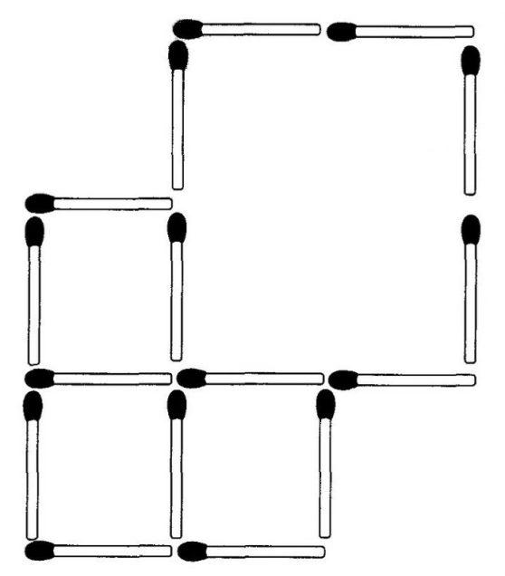 Streichholzrätsel Denksport-Aufgabe mit Lösung Matchstick Puzzle (Nummer 10)