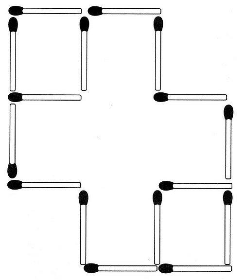 Streichholzrätsel Denksport-Aufgabe mit Lösung Matchstick Puzzle (Nummer 11)