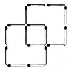 Streichholzrätsel Denksport-Aufgabe mit Lösung Matchstick Puzzle (Nummer 14) Lösung