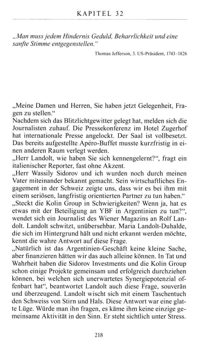 Leseprobe 2 aus: Thomas Brändle - Das Geheimnis von Montreux - Ein Kriminalroman zum Sonderfall Schweiz - Wolfbach Verlag Zürich