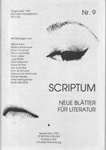 Literaturzeitschrift SCRIPTUM Nr. 09 - Cover