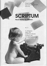 Literaturzeitschrift SCRIPTUM Nr. 11 - Cover