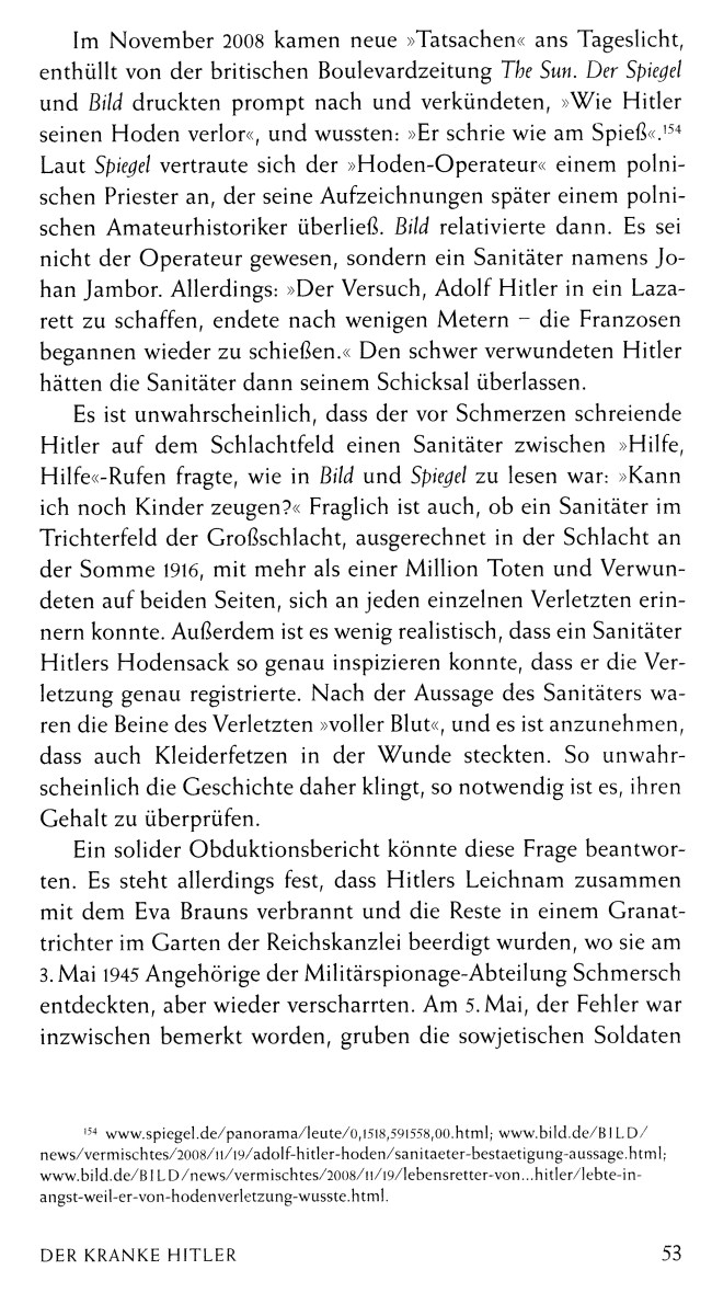 Leseprobe 1: War Hitler krank? (Lübbe Verlag)