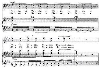 Auszug aus Mussorgskys