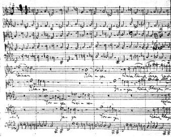 Chor-Behandlung auf einsam hohem Niveau: Autographisches Fragment der Kantate
