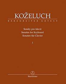 Kozeluch - Sonaten für Clavier - Band 1 - Bärenreiter Urtext