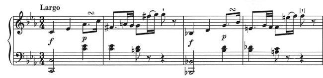 Beethovens «tragisch-pathetischen Ausdruck antizipiert»: Kozeluchs Largo-Anfang der 6. Klavier-Sonate c-moll op. 2/3