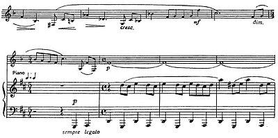 Auszug aus M. Weinbergs Sonate für Klarinette (Viola) und Klavier op.28
