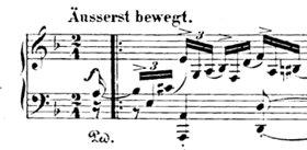 Indizien-Lieferantin in Rheingau-Mordfall: Robert Schumanns Klavier-Phantasie op. 16 «Kreisleriana» (1. Takt)