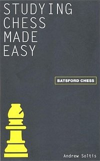 Schach Andrew Soltis - Studying Chess made easy - Batsford Cover