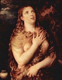 Maria Magdalena als Sünderin und Büsserin bei Tizian