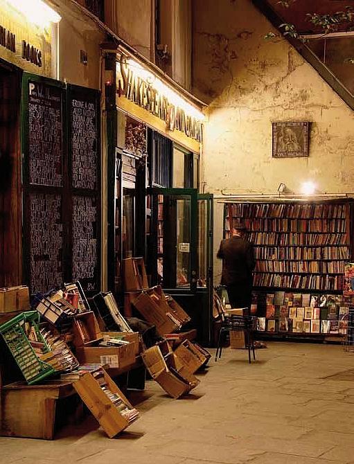 Buch-Illustration: Die alte Buchhandlung