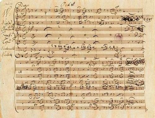«Raffinierter Satz, kraftvolle Rhythmik, filigrane Melodik»: Autograph des 1. Satzes von Schuberts Oktett in F-Dur, D 803