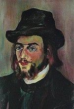 Erik Satie im Portrait-Gemälde von Suzanne Valadon