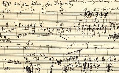 Bild: Mahlers Autograph des Klavierauszugs von