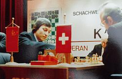 Auch das Re-Match gegen Anatoly Karpow ging 1981 in Meran für Kortschnoi verloren