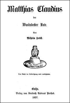 Deckblatt des «Wandsbecker Bote» in der Ausgabe 1857 (Gotha)