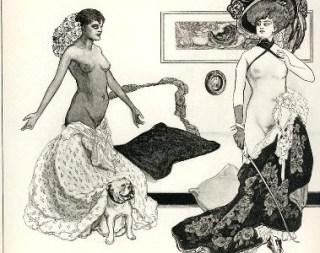 «Venus im Pelz»: Sado-masochistische Illustration von Franz von Bayros